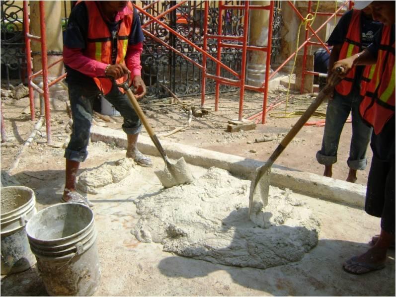 Materiales empleados en Patrimonio edificado: Cal Química: Época actual